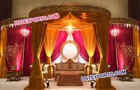 Indian Wedding Drapes Mandap