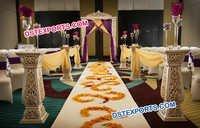 Wedding Aisleway Fiber Pedestals