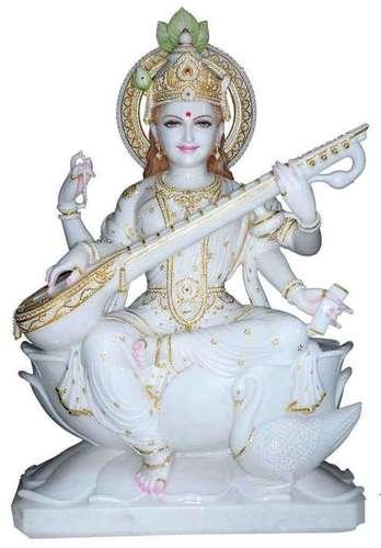 Marble Sarawati Statue