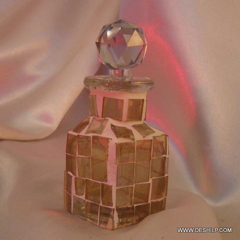 Mosaic color glass bottle decanter
