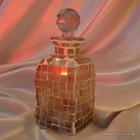 Glass Mosaic Perfume Bottle