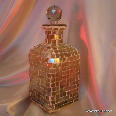 Mosaic glass Decanter Pretty and decorative vintage Decanter