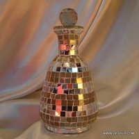 Vintage Glass Mosaic Bottle