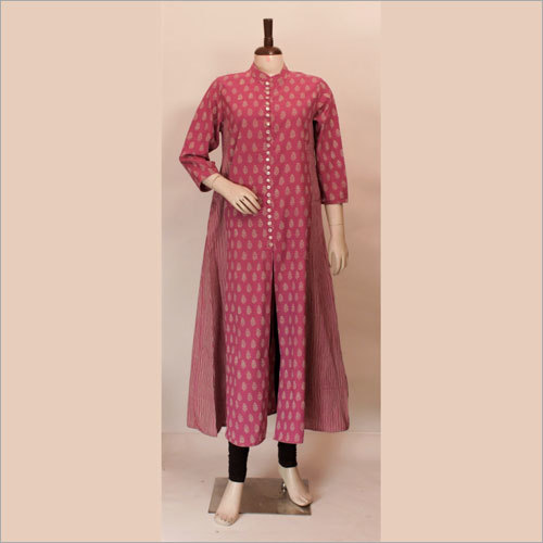 Ladies Designer Block Print Kurtis
