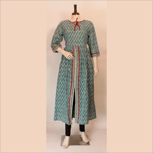 Ladies Fancy Block Print Kurtis