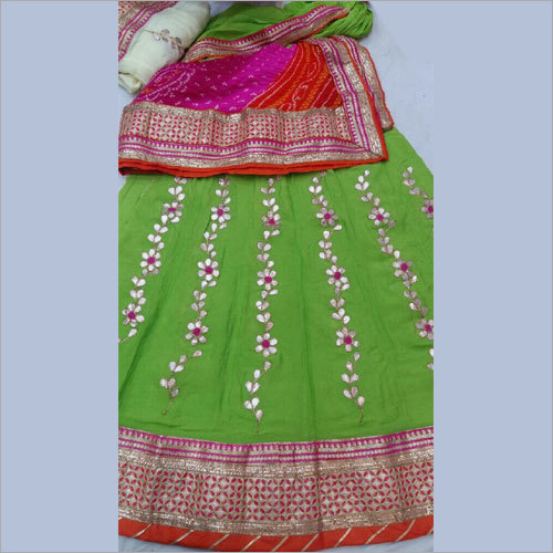 Ladies Party Wear Heavy Gotta Patti Lehenga Choli