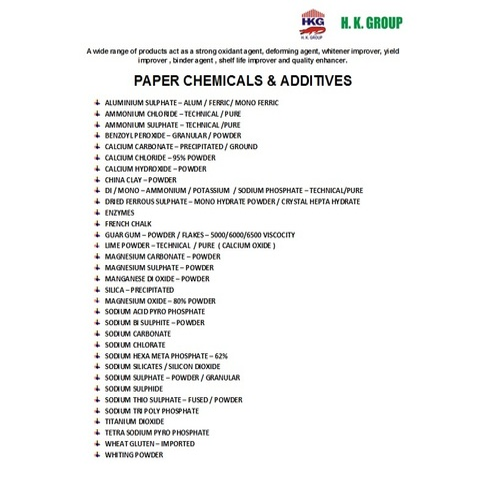 PAPER CHEMICALS / SUPREME WHITENER