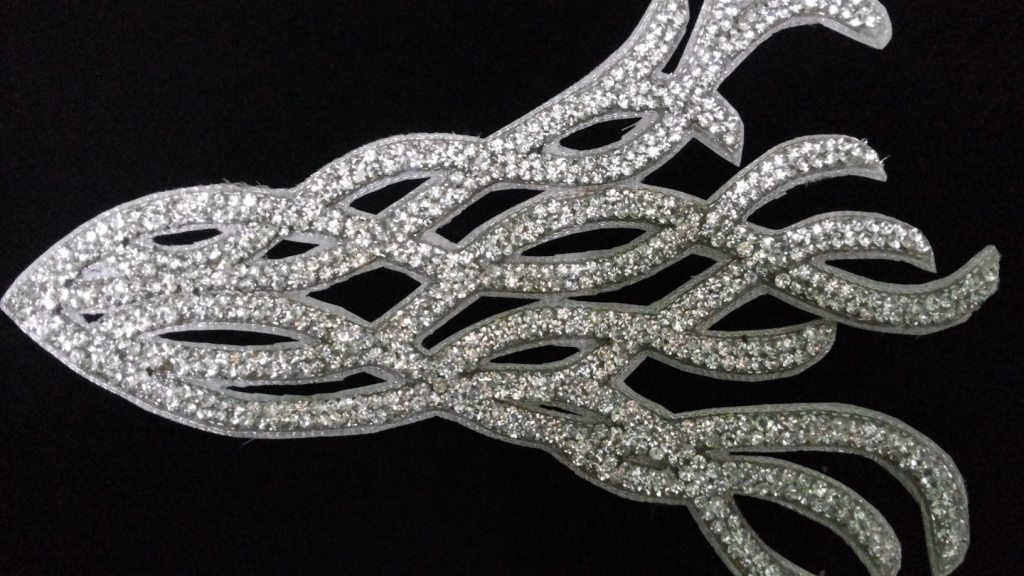 Beautiful mesh style beaded crsytal patch