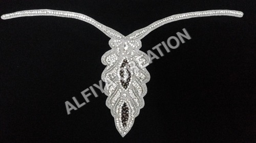 Gorgeous slim work crystal neckline for customized dresses
