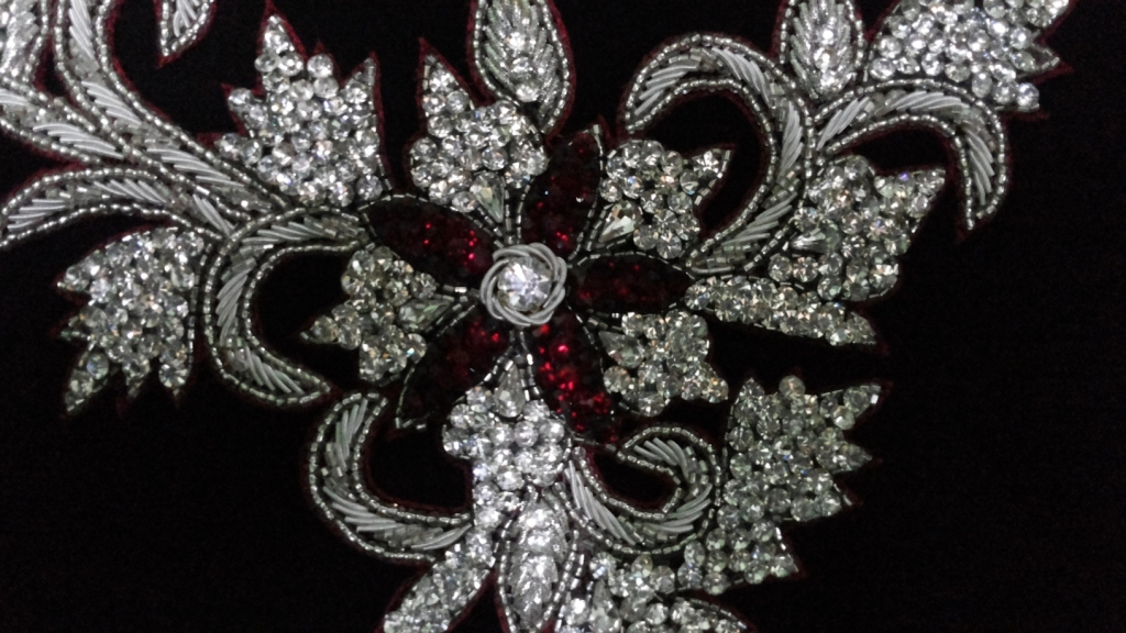 Crystal applique for gowns and dresses