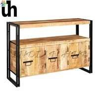 Industrial Sideboard with 3 Doors