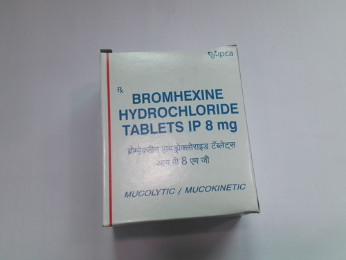 Bromhexine Hydrochloride Tablets IP 8 mg