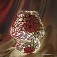 Swan Neck Crackle Glass Table Lamp