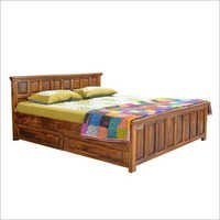 Natural Living Palma Panel Bed With Storage