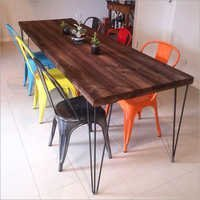 Hairpin Leg Dining Table Tolix Marais Chairs