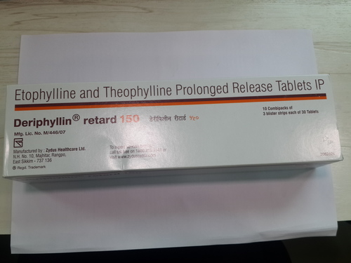 Deriphyllin Retard 150(Etophyllin and Theophylline Prolonged Release Tablets IP)