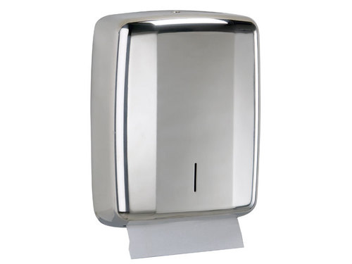Paper dispenser in stainless steel