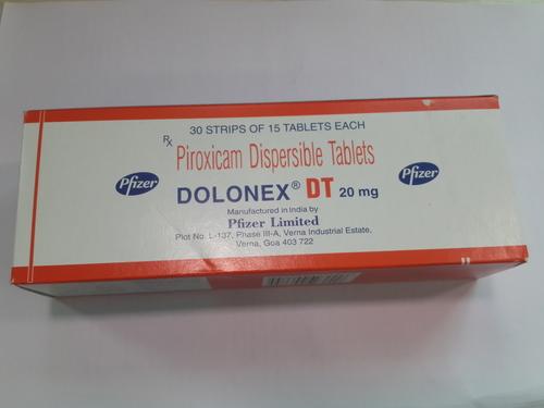 Dolonex DT Tablets (Piroxicam Dispersible Tablets)