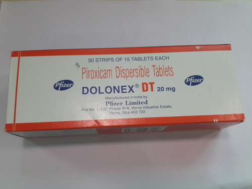 Dolonex DT Tablets (Piroxicam Dispersible Tablets)
