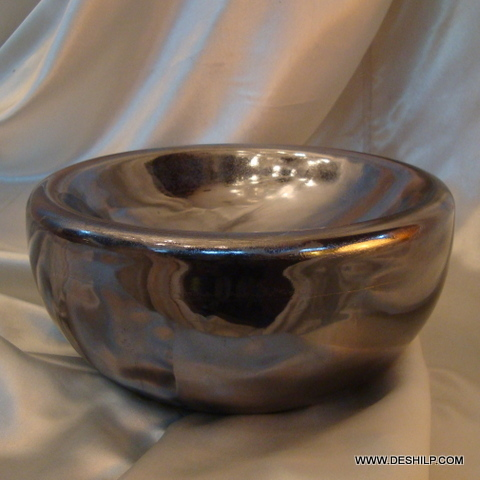 GLASS SILVER BOWL