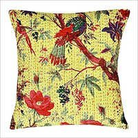 Bird Printed Kantha Cushion Cover