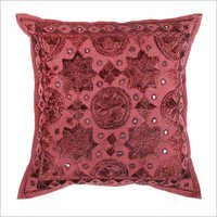 Dark Maroon Red Mirror Embroidered Decorative Sofa Bohemian Pillow Cushion Throw Cover