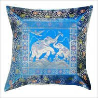 Indian Elephant Decorative Silk Brocade Cushion Cover