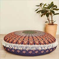 Large 32 Round Pillow Cover, Decorative Mandala Pillow Sham