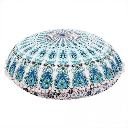 Large Mandala Floor Pillows Round Bohemian Meditation Cushion Cover