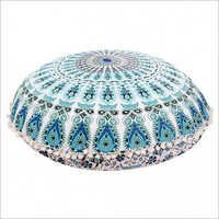 Large Mandala Floor Pillows Round Bohemian Meditation Cushion Cover