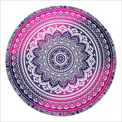 Indian Hippie Mandala Ombre Round Tapestry