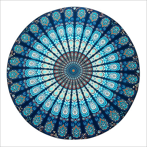 Hippie Mandala Scatterd Peacock Handmade Cotoon Tapestry Sheet