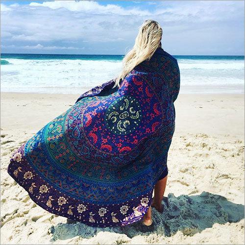 Hippie Mandala Bohemian Beach Throw Roundie