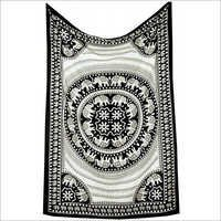 Black and White Twin Elephant Tapestry