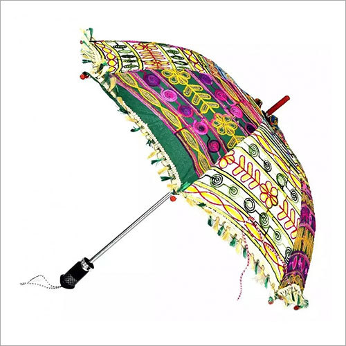 Rajasthani Hand Embroidery Multi Color Umbrella