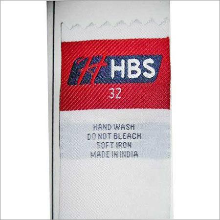 Woven Washcare Label Designing