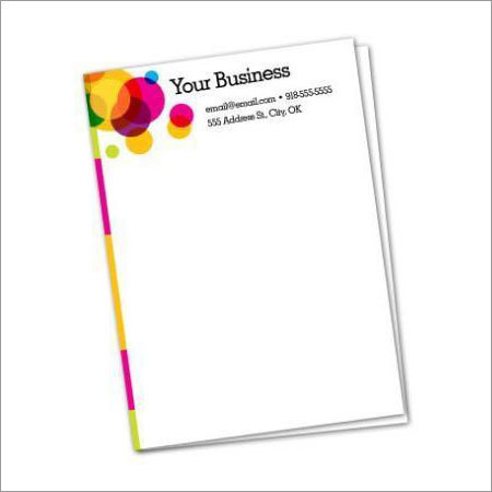 Letterhead Printing and Designing