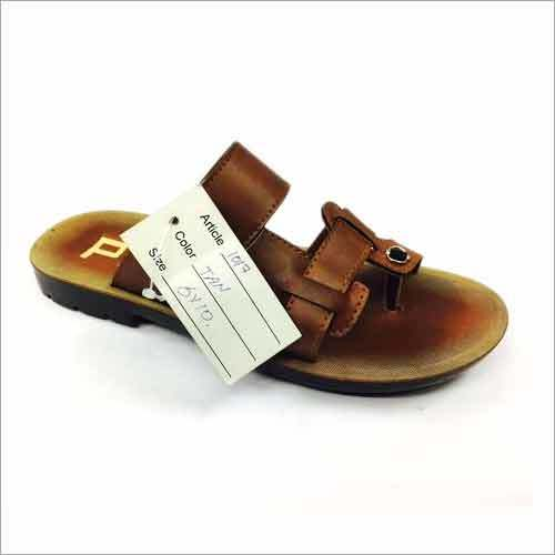 Tan Color PU Mens Slipper