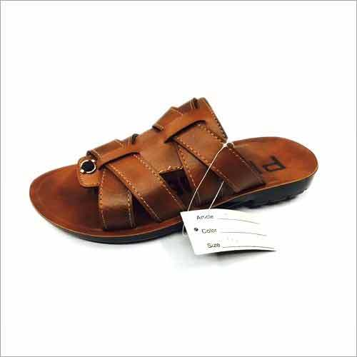 Rexine Men's Slipper with Pu Sole