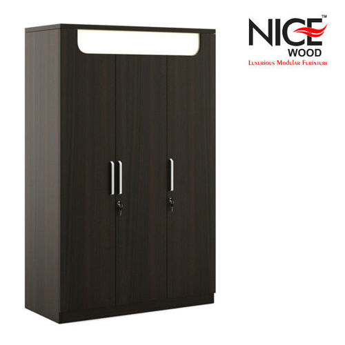 Open Slider Wooden Wardrobe