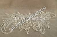 Flower shape beautiful crsystal work applique