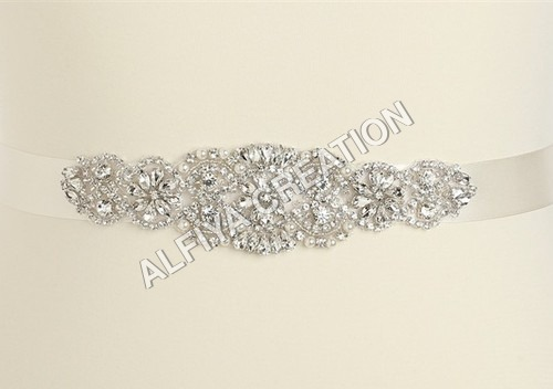 Waist belt crystal stone applique