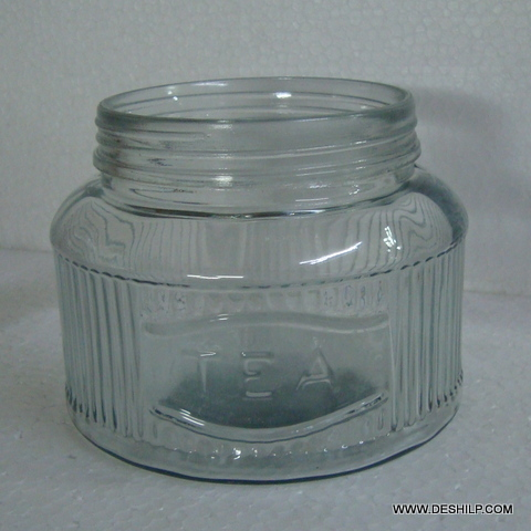 Glass jar Bottle With glass lid