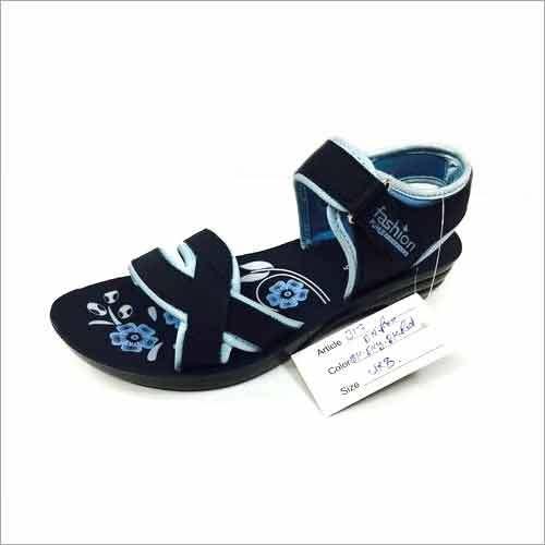Ladies Embossed Insole Printing PU Footwear