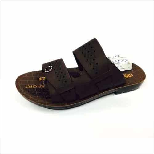 Lazer Cut Men's PU Slipper