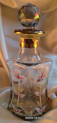 Hand Painted glass Decanter Pretty and decorative vintage Decanter