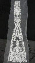 Bridal lehnga silver stone beaded work kali