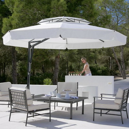 Contemporary Offset Patio Umbrella