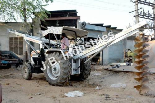 Tractor Mounted Pole Erection Machine