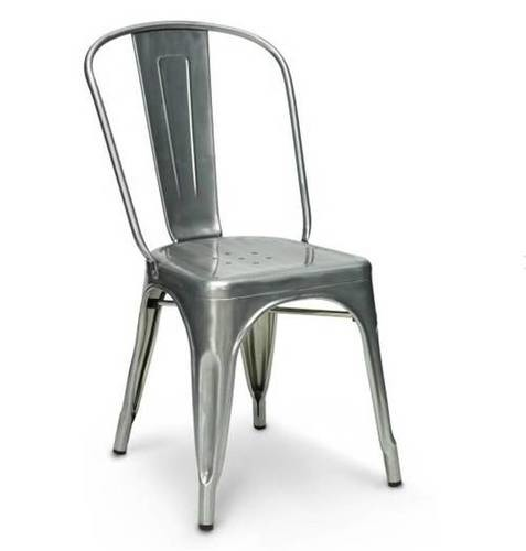 industrial tolix chair nickel finish